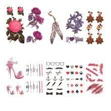 Fashion Body Makeup Creative Design Temporary Tattoos Stickers 10 pcs,J