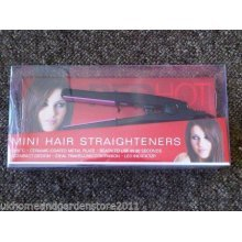 Red Hot Black Hair Straighteners Straight Ceramic Plated Travel Quick Heat