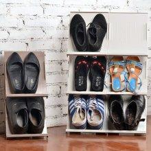 DIY Stackable Shoe Storage Rack