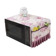 Fashionable Microwave Oven Dustproof Cover Dust Cover Covered Cloth Purple