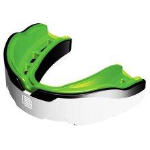 Makura Tephra Max Mouthguard, Senior (age 11 & Over), Green (white/black/green) -
