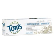 Toms of Maine Luminous White Whitening Natural Toothpaste, Clean Mint, 4.7 Ounce