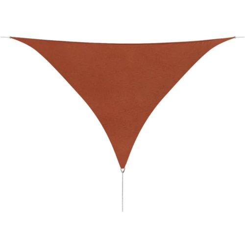 vidaXL Sunshade Sail Oxford Fabric Triangular 3.6x3.6x3.6 m Terracotta