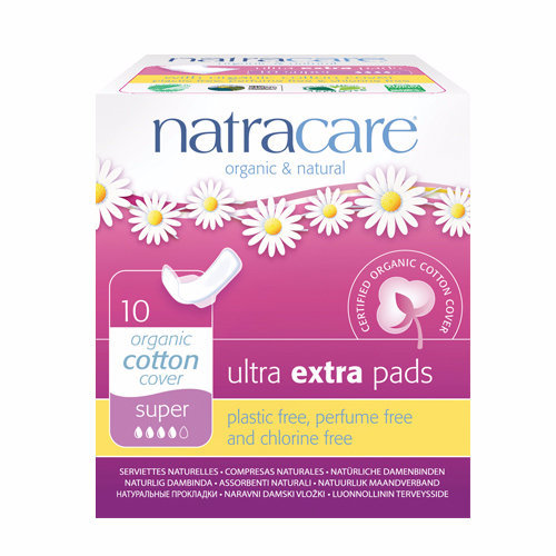 Natracare  Ultra Extra Pads With Wings - Super 10s