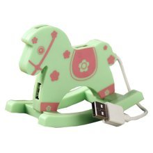 Creative Green Cute USB HUB High-Speed USB 2.0 4-Port USB Hub with 5cm cable