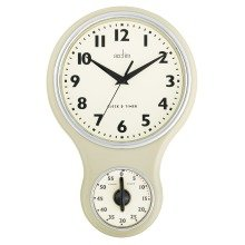 Acctim 21592 Kitchen Time Wall Clock, Cream