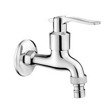 """Chrome Plated Cold Water Mixer Garden Outdoor Tap 1/2"""" with Aerator and Adapter"""
