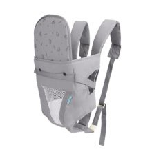 Baby Carrier Double Shoulders Seat Carrier,Dacron fabric Baby Carrier Grey
