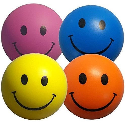 Stress Balls 4 x Mixed Colour | Sensory Toys Stress Ball | Yellow, Pink, Blue and Orange Stressball | Stress Relief Toys for ADHD and Autism