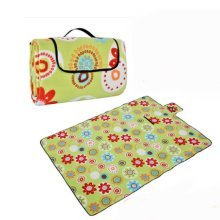 Outdoor Water-Resistant Picnic Blanket Tote Sunflower 59*78 Inch