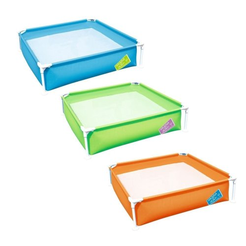 My First Frame Family Garden Outdoor Paddling Swimming Pool 48 x 48 x 12 Inches