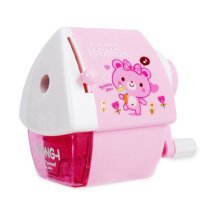 Cute Cartoon Manual Pencil Sharpener School Office Supplies, Cabin Design, PINK