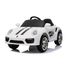 (White) 12V Porsche 911 Turbo S Kids' Ride-On | Electric Ride-On Porsche