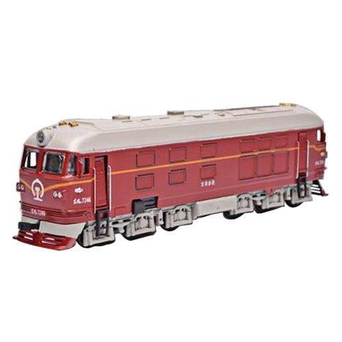 Retro Trains Model Train Toy Simulation Locomotive Children Toys Red