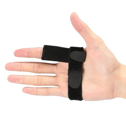 Trigger Finger Splint With Aluminium Bar, Finger Support Brace with Extra Hook & Loop Straps Fits all Fingers for Straightening Curved, Bent,...