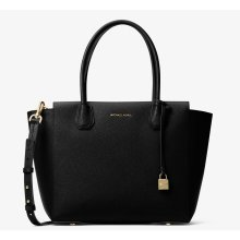 Michael Kors Mercer Large Leather Satchel - Black - 30H6GM9S3L-001
