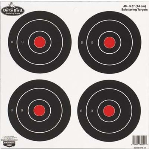 Birchwood Casey Dirty Bird Round Target (Pack of 12), 6-Inch