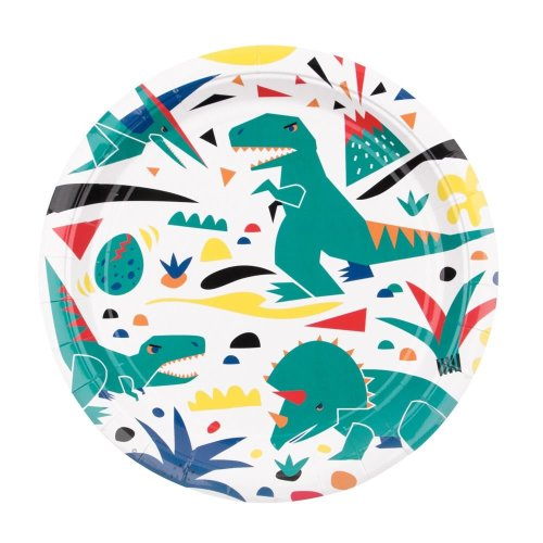 Dinosaur Paper Plates x 8 Dinosaur Theme Childrens Party