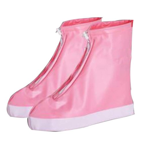 Rain Shoe Cover  Non-slip Wear  Shoe Cover Waterproof [Pink]