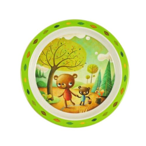 3 Pieces Of Fashion Cartoon Two Bears Pattern Drop Resistance Plate