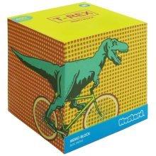 Mustard T-rex Memo Block - T Rex Trex Notiz -  t rex memo block trex notizblock