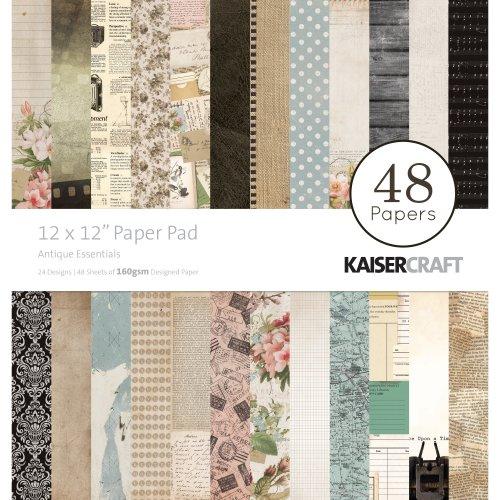 "Kaisercraft Paper Pad 12""X12"" 48/Pkg-Antique Essentials"