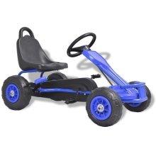 vidaXL Pedal Go-Kart with Pneumatic Tyres Blue