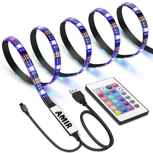Criacr Tv Back Light 1 M Usb Led Strip With 30 16 Colors 4 Lighting Modes Versatile Remote Control Bias Kits For 24 42 On