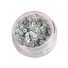 5 Boxes Makeup Glitter Sequins Shining Nail Art Sequins Face Glitter Star Silver