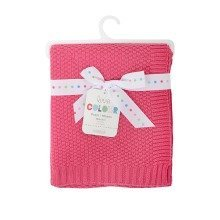 East Coast Love Colour Cotton Blanket Raspberry