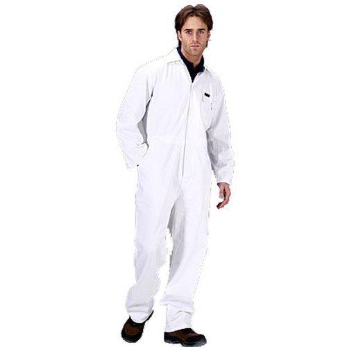 """Click PCBSW34 Polycotton Boiler Suit White 34"""""""