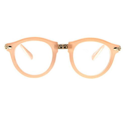 Retro Fashion Round Glasses Frames for Men and Women-Pink
