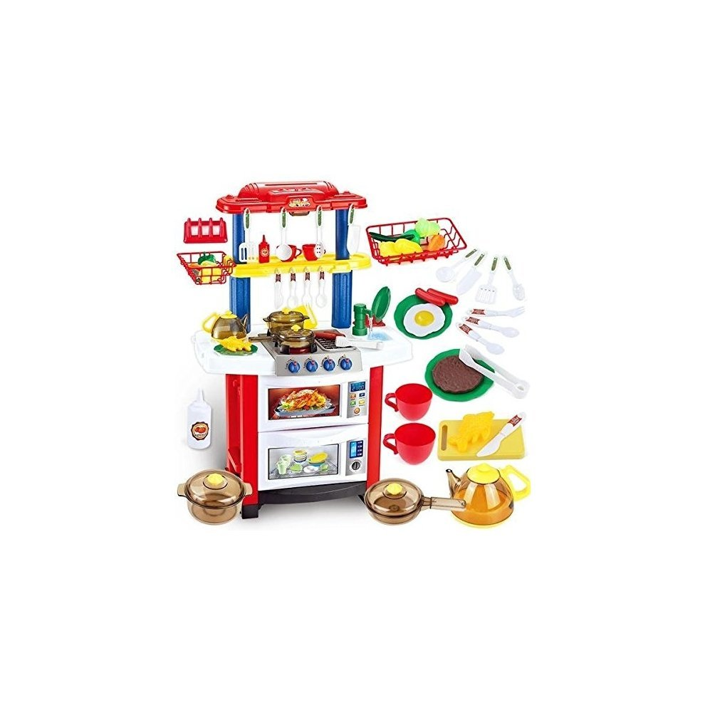 deAO Toys Happy Little Chef Play Set | Kids\' Play Kitchen ...