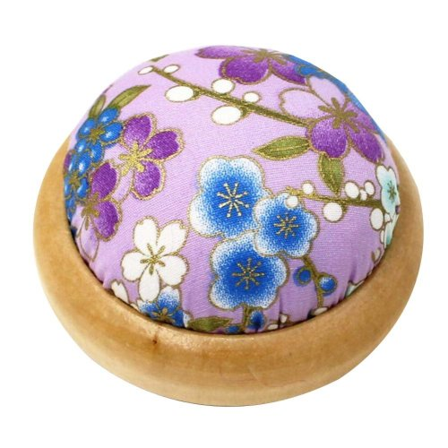 Set of 2 Pin Cushions for Sewing with Wood Base - 01