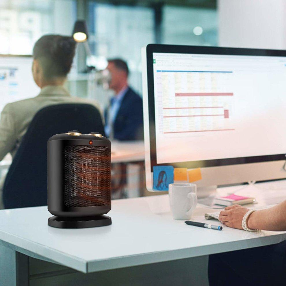 Comlife Ptc 900w 1800w Ceramic E Heater Electric Mini Personal Fan With Rotation