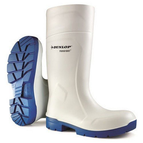 Dunlop CA6113103 Purofort Multigrip Safety Wellington White Size 3