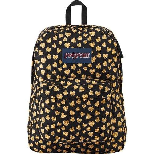 3a510a9bbc58 JanSport Superbreak Backpack - Glitter Hearts - Silver