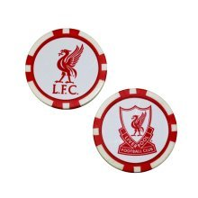 Liverpool Fc Poker Chip Ball Marker 2-pack - White/red - Markers Licensed -  poker ball liverpool chip markers fc licensed product football golf