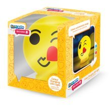 Plastic Big Kiss Emoticon Illumi-mate Light, Yellow - Light Illumimate Emoji -  light big kiss illumimate emoji colour changing new led night kids