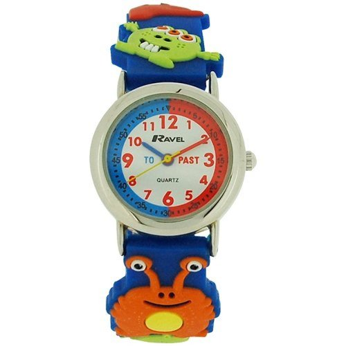 Ravel Time Teacher Kids Boys 3D Monster Design Blue Rubber Strap Watch R1513.60