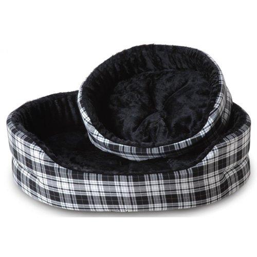 Tartan Superbed Black & White Glen 102cm (40'')
