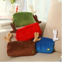 Christmas Deer Antlers Car Seat Pad Head Support Cushion