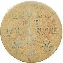 France 1714 W Liard Ludwig XIV Coin