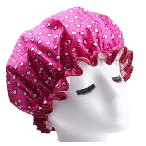 2 Pcs Shower Cap Waterproof Women Kitchen Anti-fume Caps Good Quality [A]