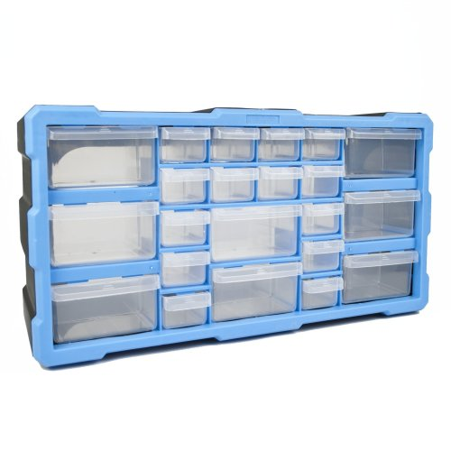 DIY Storage Organiser Unit with 22 Drawers Small Parts Craft Box Stationary Cabinet