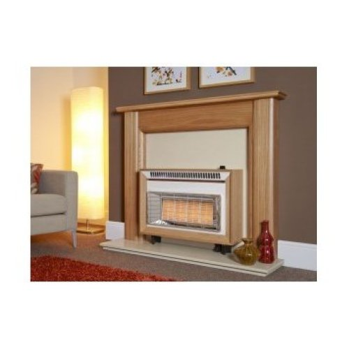 Designer Fire - Flavel FORML0EN Light Oak Misermatic Gas Fire - EC