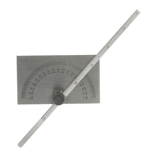 Silverline 783181 Protractor with Depth Gauge Scale 150mm