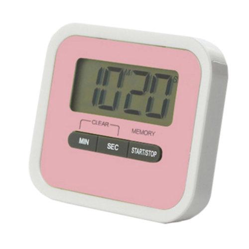 Utility Mini Electronic Digital Timer Kitchen Timer, Pink