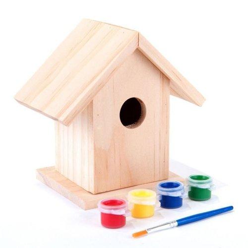 Wooden Garden Bird House Paint Your Own Art And Craft Bird House