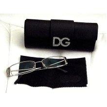 Womens D&G Gold Rimmed Glasses Frames & Case